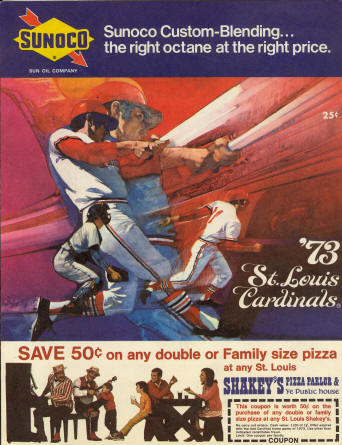 1973 St. Louis Cardinals Scorecard