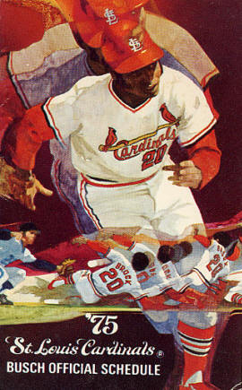 1975 St. Louis Cardinals Pocket Schedule