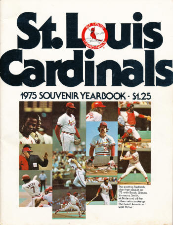 1975 St. Louis Cardinals Yearbook