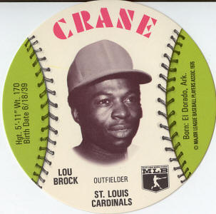 CRANE Potato Chips - Lou Brock