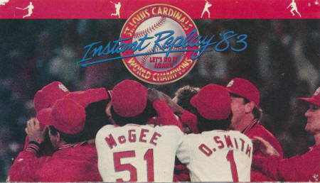 St. Louis Cardinals - 1983 Schedule front cover