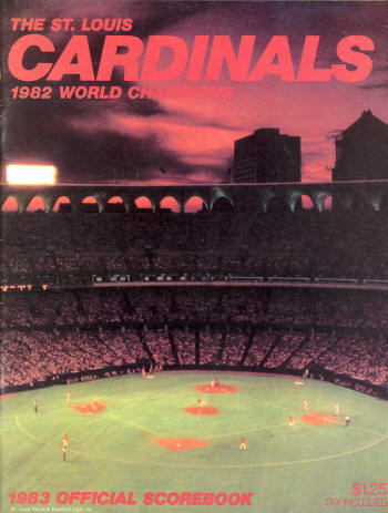 1983 St. Louis Cardinals Official Scorebook