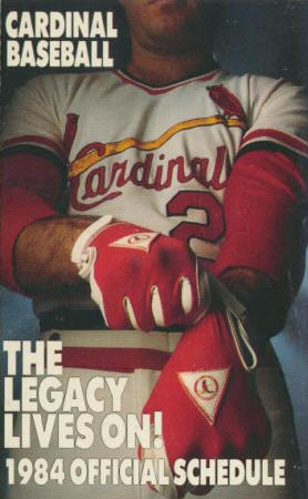 St. Louis Cardinals - 1984 Pocket Schedule
