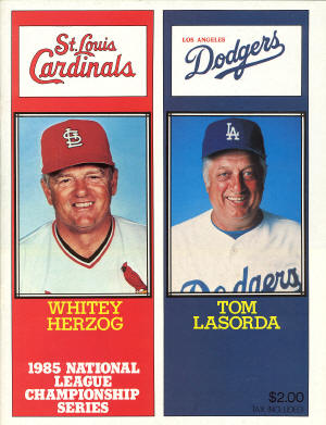1985 National League Championship Series - St. Louis Cardinals & Los Angeles Dodgers