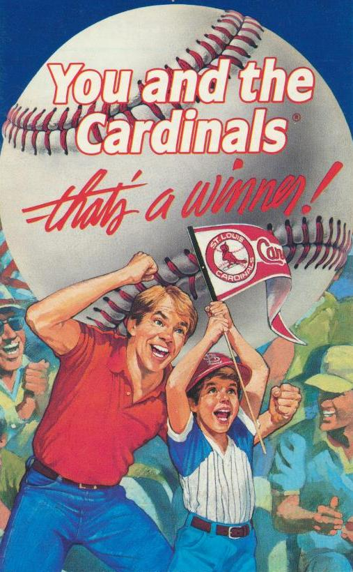 St. Louis Cardinals - 1985 Ticket Info front cover