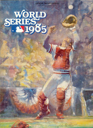 1985 World Series program - St. Louis Cardinals & Kansas City Royals