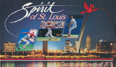 St. Louis Cardinals - 1987 Schedule front cover