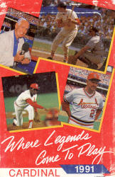 1991 St. Louis Cardinals Pocket Schedule