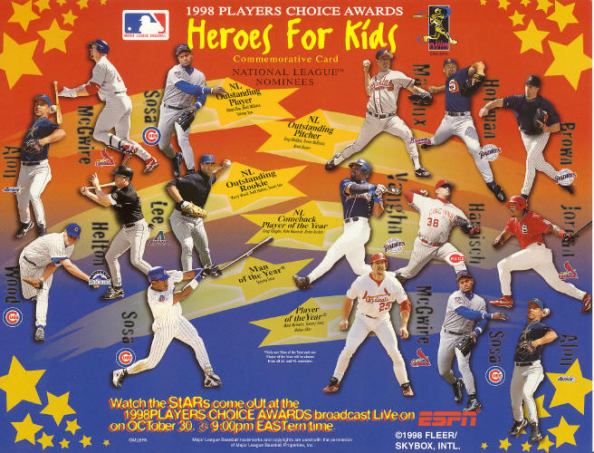 MLB - 1998 Players Choice Awards - Heroes for Kids - McGwire, Jordan