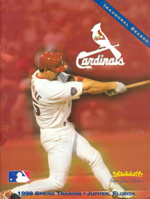 St. Louis Cardinals - 1998 Spring Training Program - McGwire