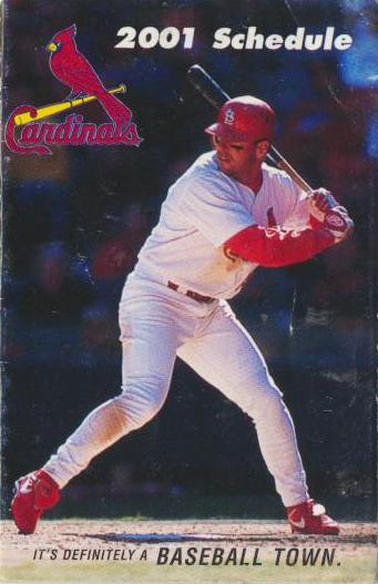 St. Louis Cardinals - 2001 Pocket Schedule - Edmonds