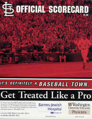 2001 St. Louis Cardinals Official Scorecard - McGwire