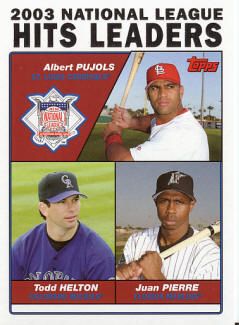 Topps 2003 National League Hits Leaders - Pujols