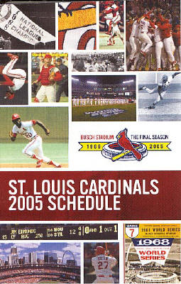 2005 St. Louis Cardinals Pocket Schedule