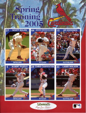 2005 St. Louis Cardinals Spring Training Program