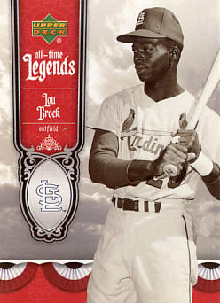 ATL-6 2006 Upper Deck All-Time Legends - Lou Brock