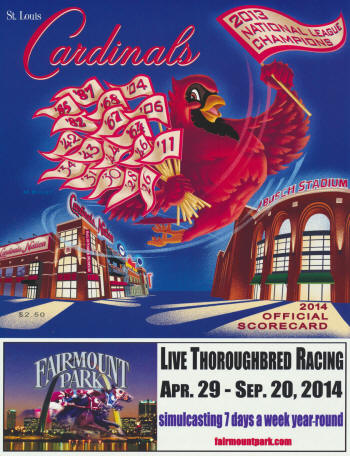 2014 St. Louis Cardinals Scorecard