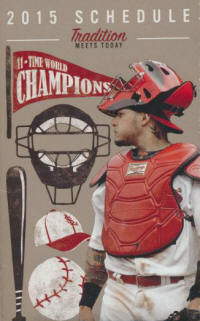 2015 St. Louis Cardinals Pocket Schedule