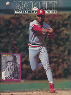 Beckett Baseball Card Monthy - Ozzie Smith - November 1996 - Issue #140
