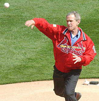 St. Louis Cardinals - 2004 Opening Day - President George W. Bush #43
