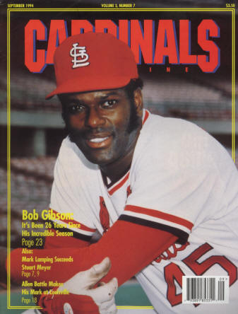 1994 St. Louis Cardinals GameDay Magazine Issue #7