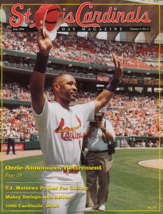 St. Louis Cardinals Gameday Magazine - 1996 #5