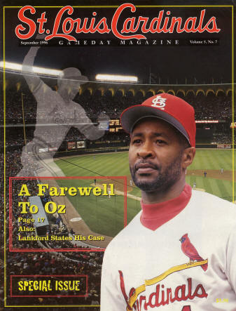 St. Louis Cardinals Gameday Magazine - 1996 #7