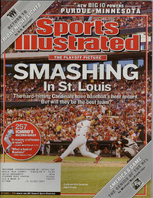 St. Louis Cardinals - October 4th 2004, Sports Illustrated - Albert Pujols