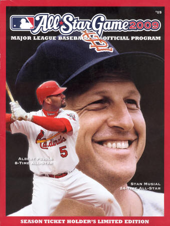 2009 MLB All Star Official Program - Pujols, Musial
