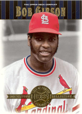 #8 2001 Upper Deck Cooperstown Collection Hall of Famers - Bob Gibson