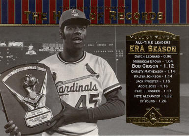 #81 2001 Upper Deck Hall of Records - Bob Gibson