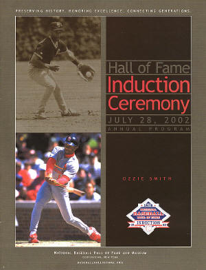St. Louis Cardinals - 2002 Hall of Fame Induction Ceremony - Ozzie Smith