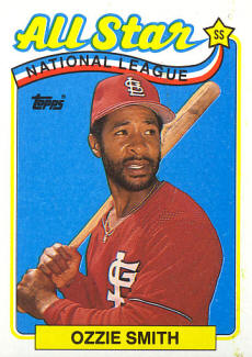 #389 1989 Topps NL All-Star 1988 Stolen Base Leaders