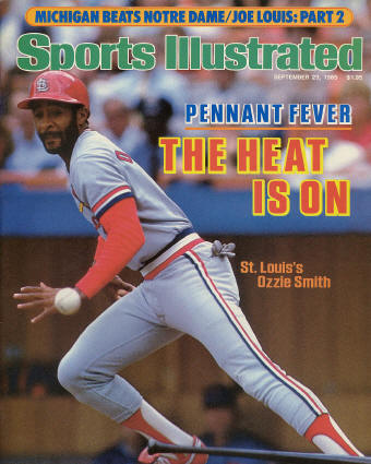 1985 Sports Illustrated cover - Ozzie Smith