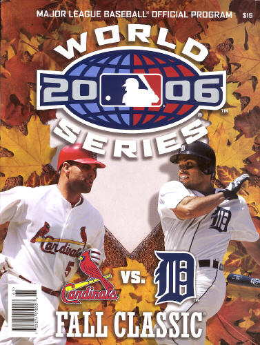 2006 World Series Official Program - Pujols
